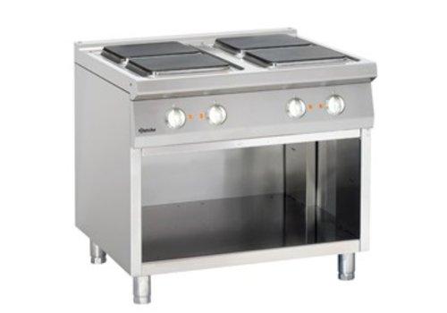 Bartscher elektrische kookplaat met open onderbouw | 4 elementen
