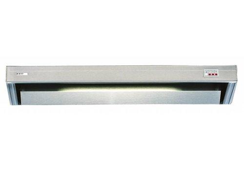 Bartscher Edelstahl-Auspuffanlage mit Beleuchtung | 90x52x17cm
