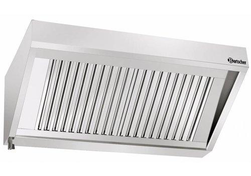 Bartscher RVS Afzuig installatie zonder motor   180x90x45cm