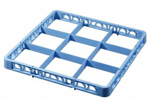 Bartscher Afwaskorf-vakken-opzetrand, blauw