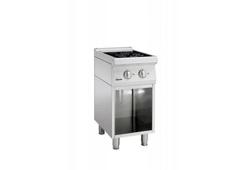 Bartscher Ceramic stove with open base   2 zones