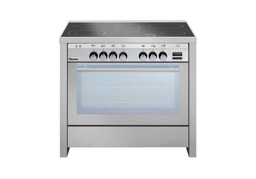 Bartscher ceramic stove with multifunction oven   5 zones