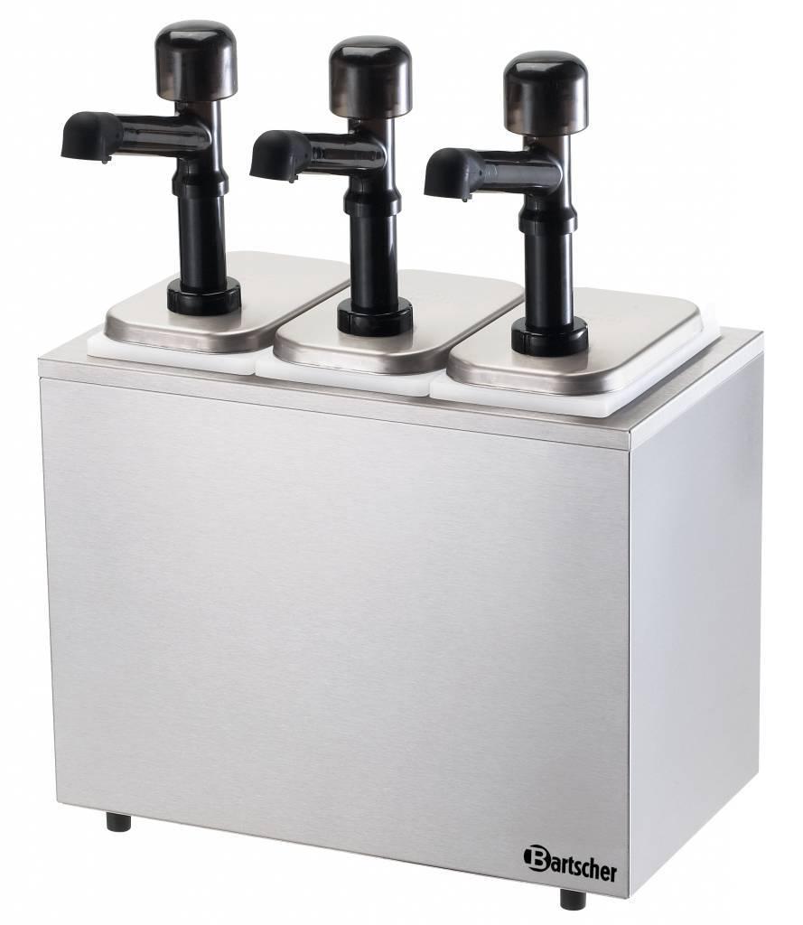 Pump Sauce Dispenser 3 Dispensers Pumps Horecatraders