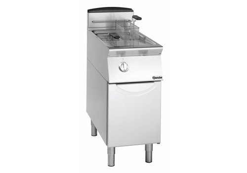 Bartscher Gas standing deep fat fryer, 2 basins each 8 litres