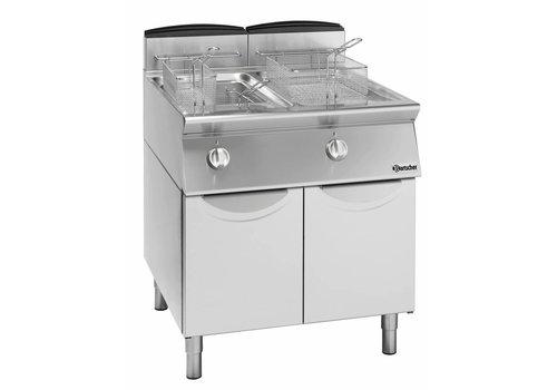 Bartscher Fryer Gas mit Unterbau - 2 x 13 Liter