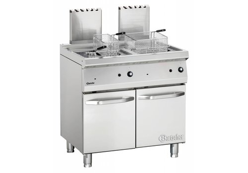 Bartscher Gas standing deep fat fryer with 2 basins Series 700