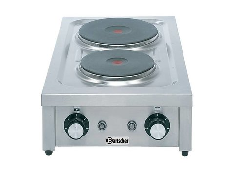 Bartscher Kooktoestel met 2 verschillende kookplaten | 4,6 kW
