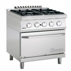 Bartscher Stove with oven | 4 Burners