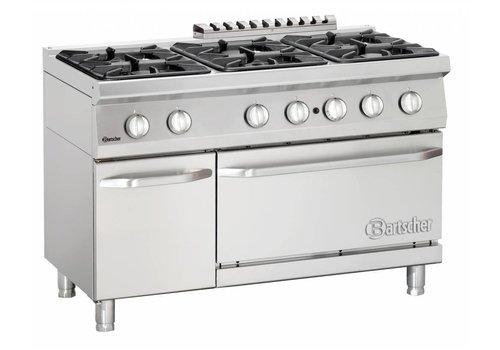 Bartscher Stove with oven | 6 burners