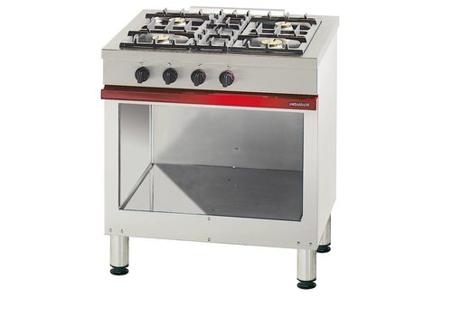 Bartscher Gas Stove Open Substructure | 4 Burners
