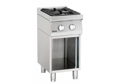 Bartscher Gas stove Open Substructure | 2 Burners