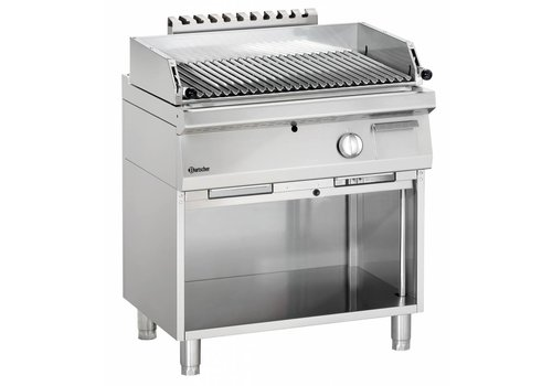 Bartscher Gas lava rock grill with open base frame Series 700