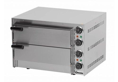 Bartscher Dubbele RVS Pizzaoven 2700 Watt | 2 Pizza's
