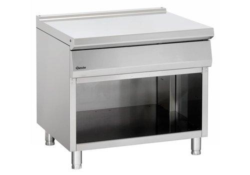 Bartscher Neutral stainless steel open base element | 90x90x85cm