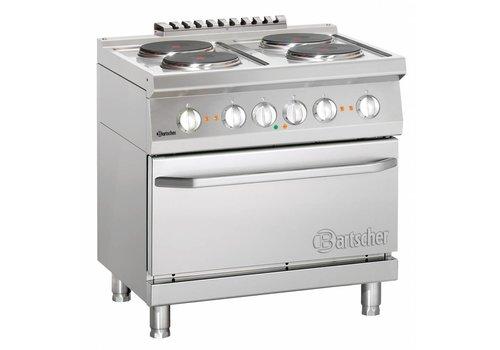 Bartscher Fornuis met elektrische oven | 4 kookplaten