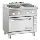 Bartscher electric stove with oven | 4 square plates