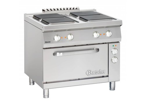 Bartscher 4 electric hob with electric oven