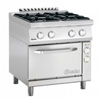 Bartscher Gas cooker with electric oven | 4 Burners