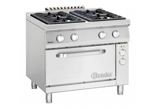 Bartscher Gas cooker with electric oven | 6 burners