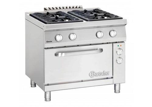 Bartscher Gasfornuis met elektrische oven | 6 branders