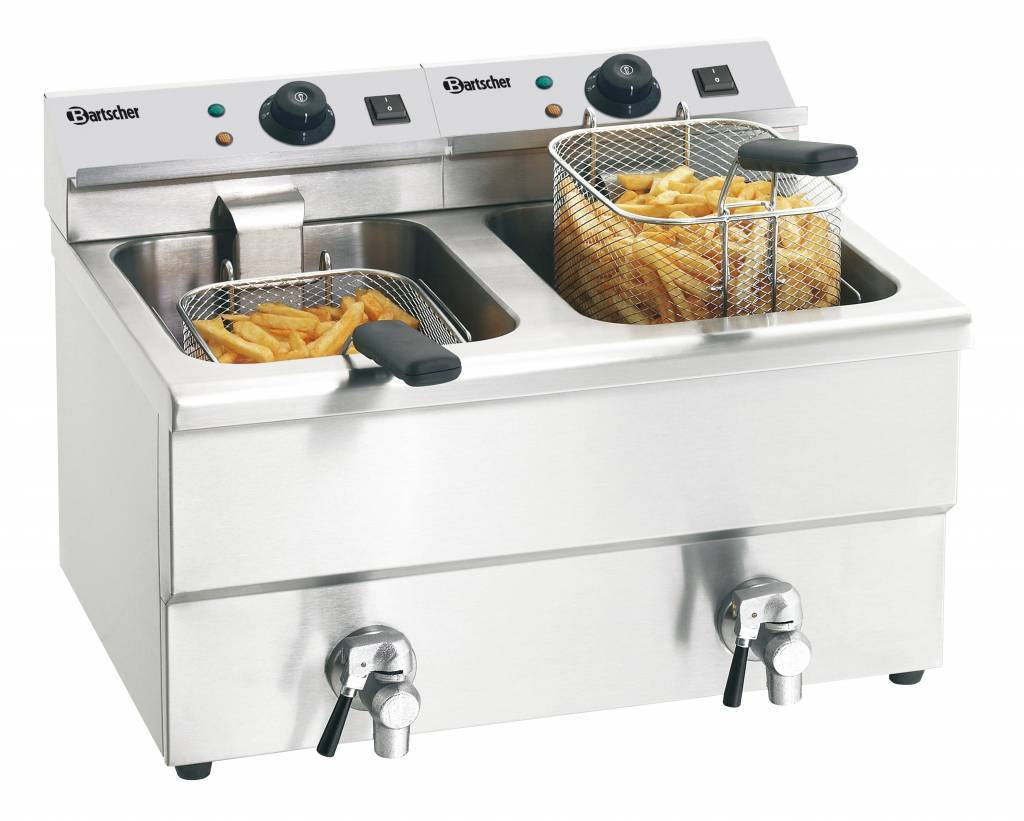 Electric Double Deep Fat Fryer With Oil Drain Tap Quot Imbiss