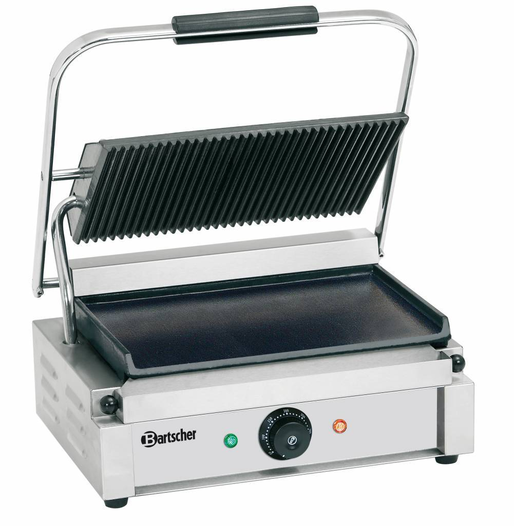 electric contact grill panini horecatraders buy. Black Bedroom Furniture Sets. Home Design Ideas