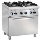 Bartscher Steel Cooker with Electric Oven | 4 Burners