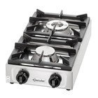 Bartscher Stainless Steel Gas hob 9kW | 2 Burners