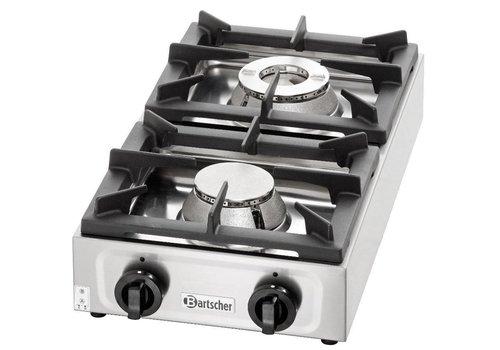 Bartscher RVS Gas kooktafel 9kW | 2 Branders