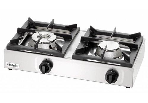 Bartscher RVS Propaan Gas Kooktafel 11kW | 2 Branders