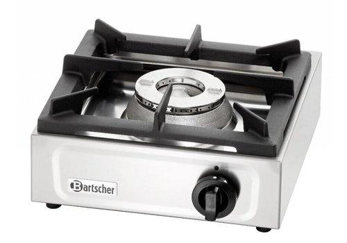Bartscher Edelstahl-Gasherd | 6,5 KW