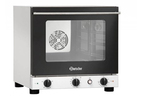 Bartscher Stainless steel hot air oven with moisture injection - (h) 52x55 x62 cm