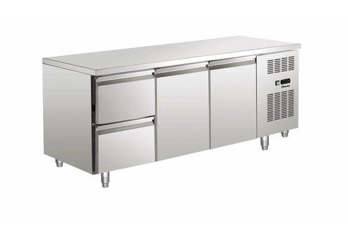Bartscher Cool Workbench SS 2 doors / 2 drawers | 179 x 70 x 85 cm