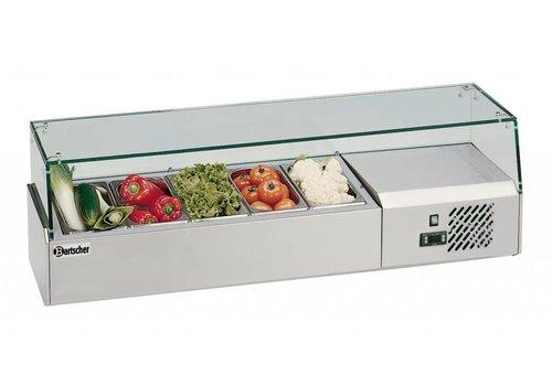Bartscher Kühlaufsatzvitrine 5x1/4GN T150