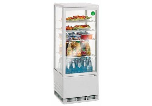 Bartscher Small White Refrigerated display case - 98 Liter - Bestsellers!