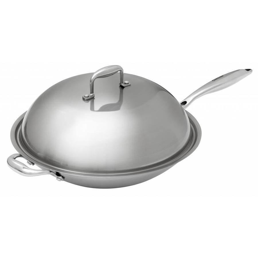 Bartscher Stainless Steel Round Bottom Wok Cover 38 Cm Ø