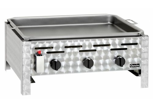 Bartscher Table gas grill with three burners
