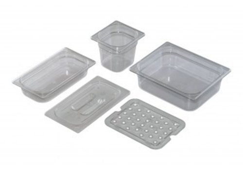 Saro 1/4 Gastronorm lid poly without spoon recess