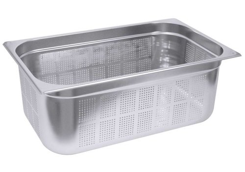 Saro Gastronorm containers stainless steel perfor. GN 1/3 | 2 Year Warranty