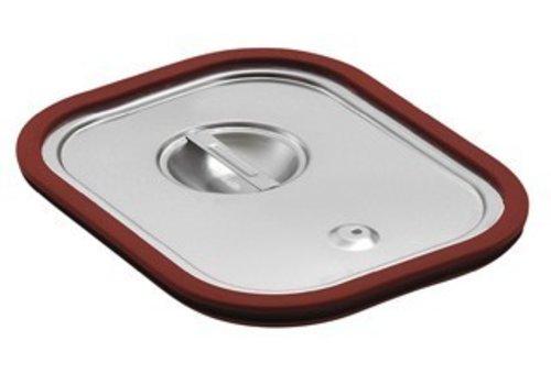 Saro Gastronorm deksel met Rubber afdichting | GN 1/6