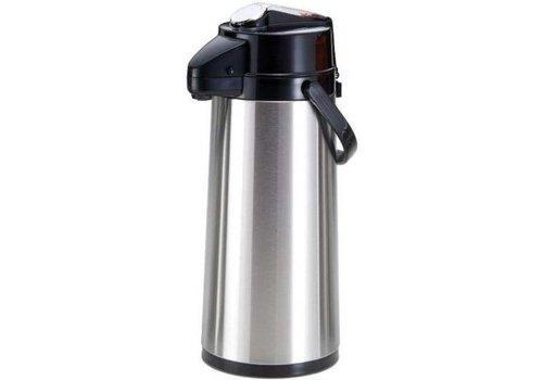 Saro Stainless steel   Pompthermoskan 2.2L