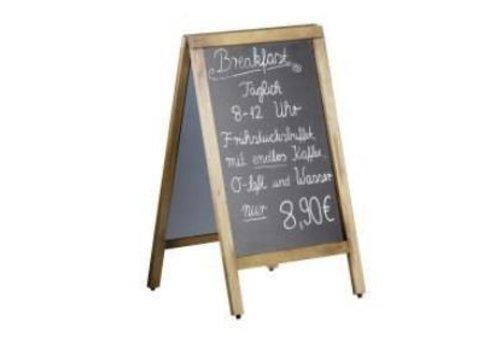 Saro Krijt Stoepbord met Houten Frame | 50x(H)85cm
