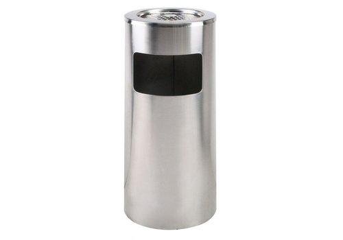 Saro Edelstahl Abfallbehälter mit herausnehmbarem Aschenbecher