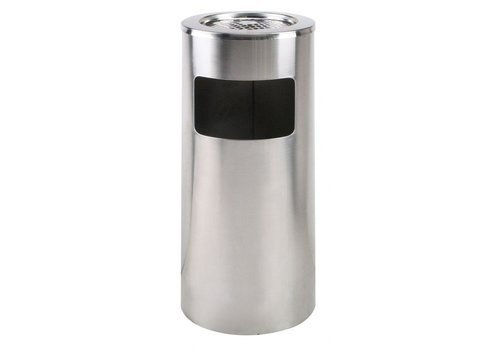 Saro Stainless steel waste bin With removable ashtray | 20 L