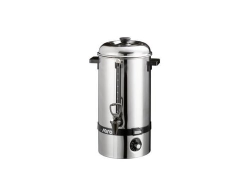 Saro Stainless steel hot water dispenser with tap 10 liters