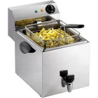 Saro Fryer with drain 1 x 8 liter with 2 years warranty