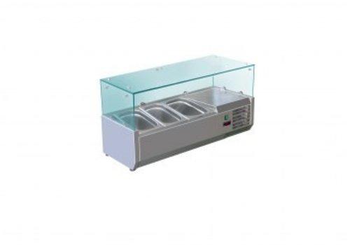 Saro Refrigerated display case design 3 x 1/3 GN