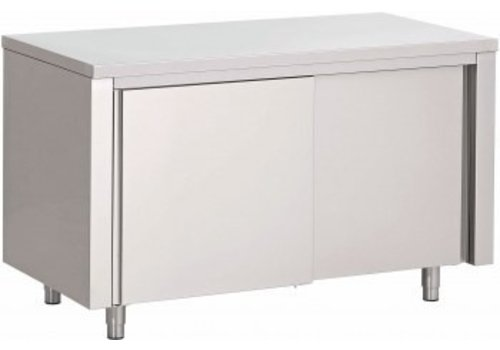 Saro Werkkast met Schuifdeuren RVS | 120x70x(H)85cm