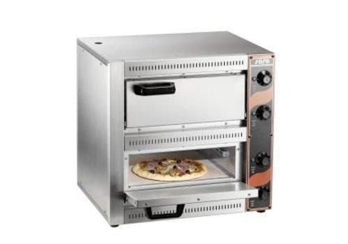 Saro Professionele Pizzaoven 2 x 2500 Watt | 2 Pizza's