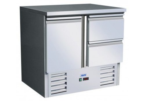 Saro Refrigerated workbench 1 door 2 drawers SS | 90 x 70 x 85 / 88.5 cm